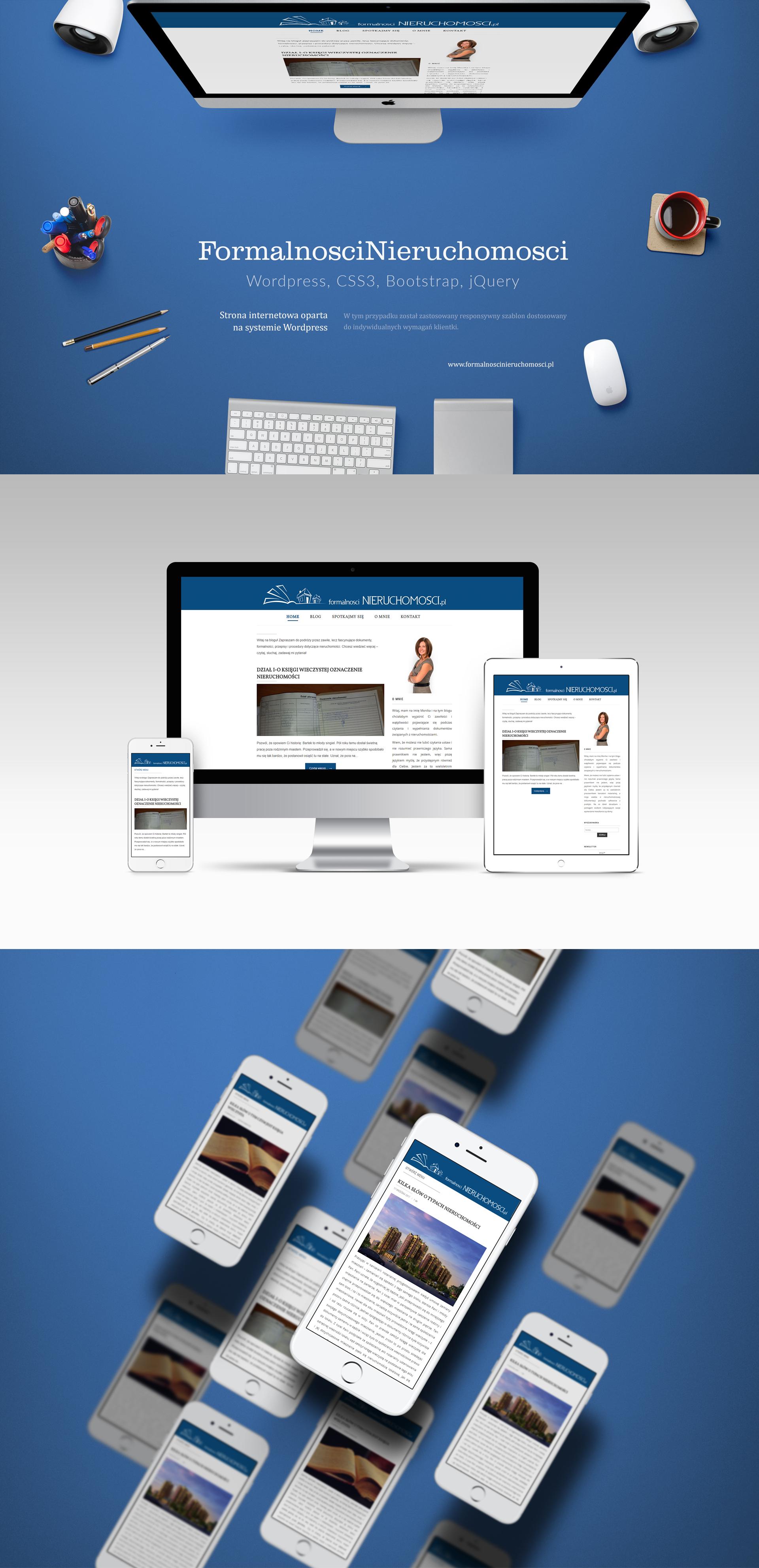 strona internetowa wordpress szablon wordpress